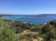 Blue lagoon and yachts