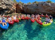 Split Excursions Group-on-sea-kayak-tour-Blue-Lagoon-Croatia