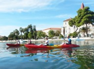 Kayak-around-Trogir-center-from-Split-Croatia