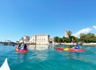 Kayaking-under-bridges-in-Trogir-Center